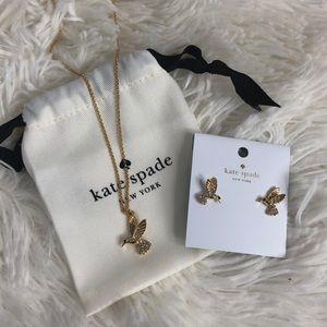 ♠️ Kate Spade Necklace + Earrings Set